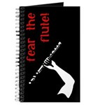 Fear the Flute, A Music Journal, White, Red &Black