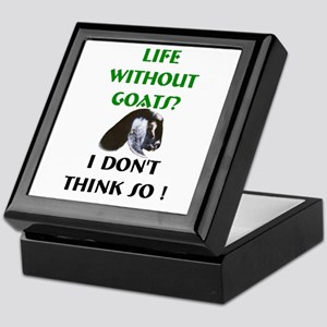 GOATS-Life Without Nubian Goa Keepsake Box