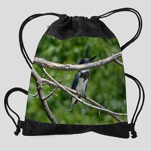 Belted Kingfisher Drawstring Bag