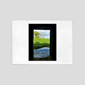 Medieval Castle Window 5'x7'Area Rug