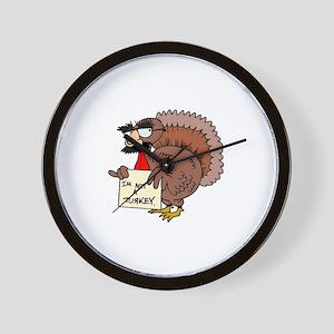 I am not a Turkey Wall Clock