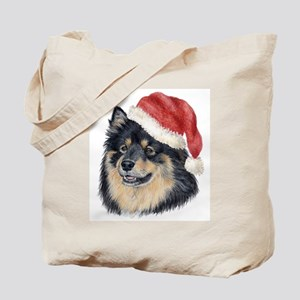 Christmas Finnish Lapphund Tote Bag
