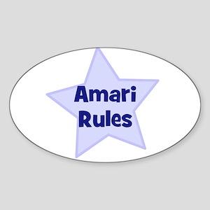 Amari Rules Oval Sticker