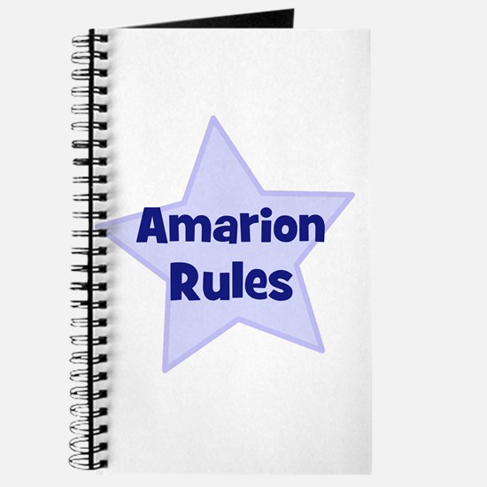 Amarion Rules Journal