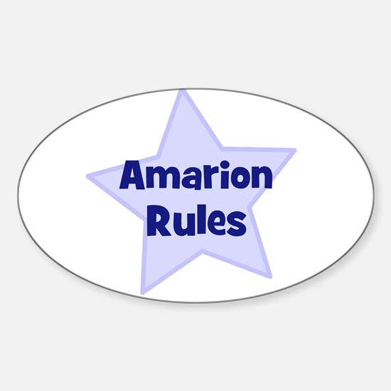 Amarion Rules Oval Decal