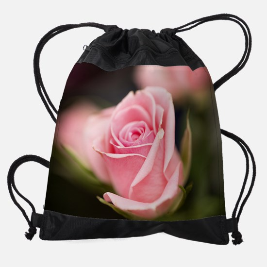 Funny Blooming rose Drawstring Bag
