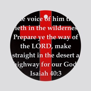 Isaiah 40:3 Round Ornament