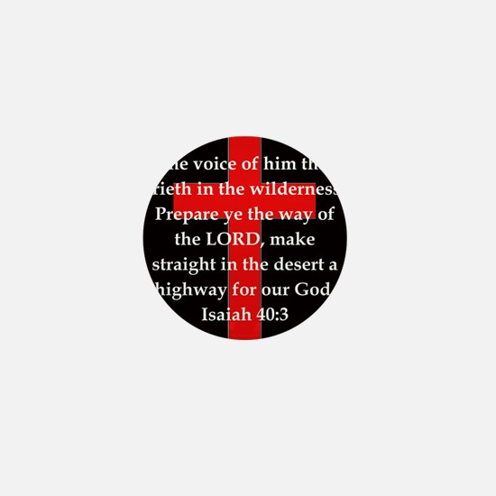 Isaiah 40:3 Mini Button