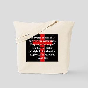 Isaiah 40:3 Tote Bag