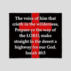 Isaiah 40:3 Throw Blanket
