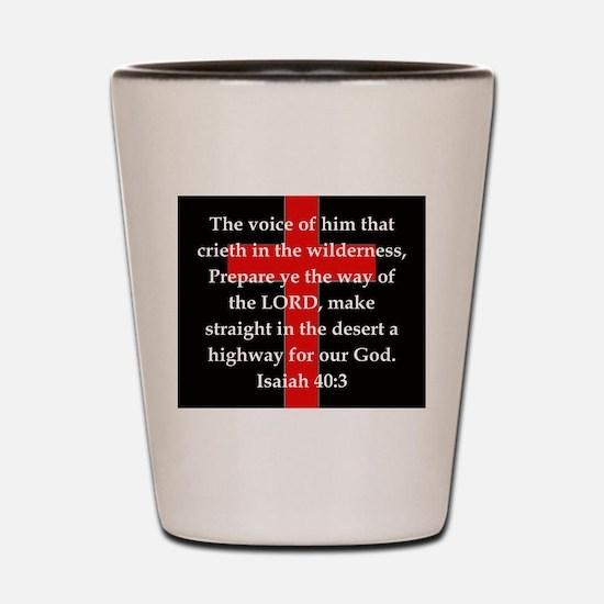 Isaiah 40:3 Shot Glass