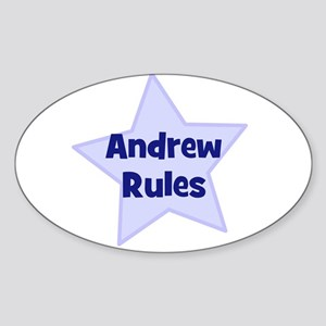 Andrew Rules Oval Sticker