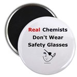 "Molecularshirts.com Real Chemists 2.25"" Magnet (10"