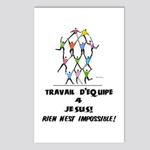 French: Teamwork! Postcards (Package of 8)