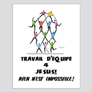 French: Teamwork! Small Poster