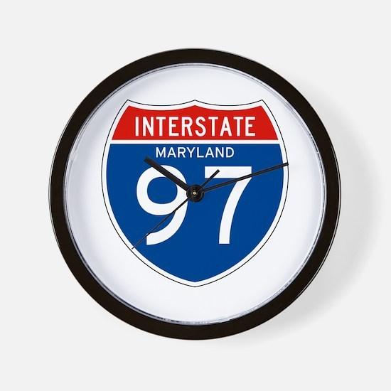 Interstate 97 - MD Wall Clock