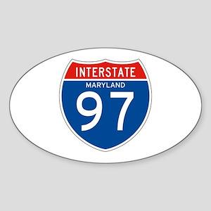 Interstate 97 - MD Oval Sticker