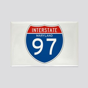 Interstate 97 - MD Rectangle Magnet