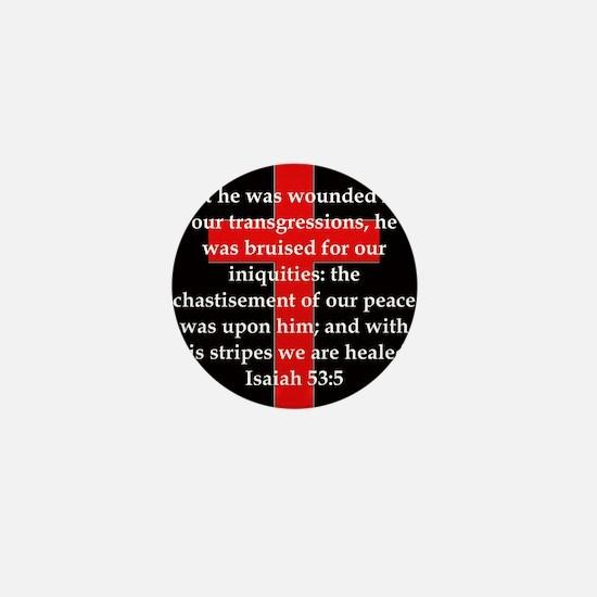 Isaiah 53:5 Mini Button
