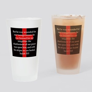 Isaiah 53:5 Drinking Glass