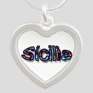 Sicilia Silver Heart Necklace