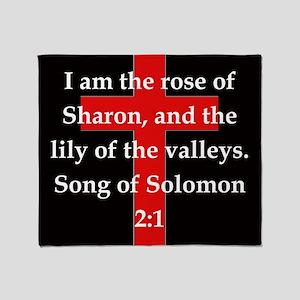 Song of Solomon 2:1 Throw Blanket
