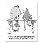 Genetics Cartoon 0313 Small Poster