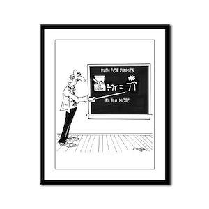 Math Cartoon 5850 Framed Panel Print
