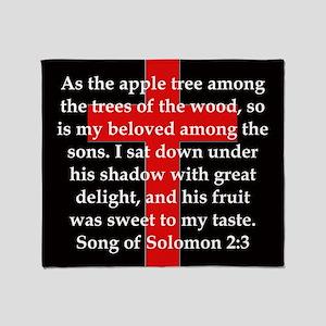 Song of Solomon 2:3 Throw Blanket
