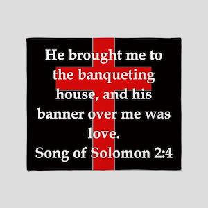 Song of Solomon 2-4 Throw Blanket