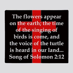Song of Soloman 2:12 Throw Blanket