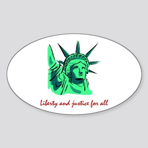 Liberty & Justice for All Oval Sticker