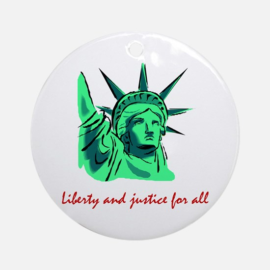 Liberty & Justice for All Ornament (Round)