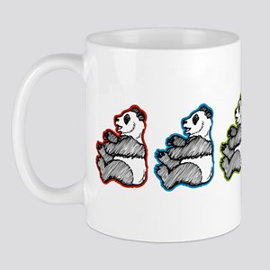 Multi Colored Panda Mug