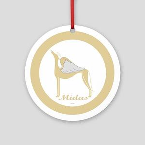 MIDAS ANGEL GREY ROUND ORNAMENT