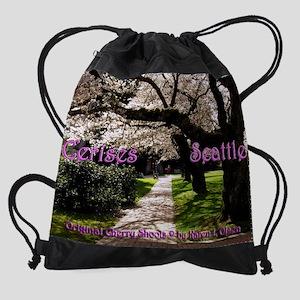 Cerises Seattle Cover Drawstring Bag