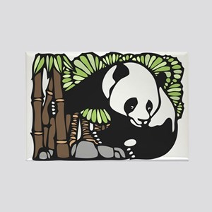 Bamboo and Panda Rectangle Magnet