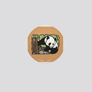 Bamboo and Panda Mini Button