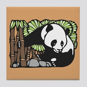 Bamboo and Panda Tile Coaster