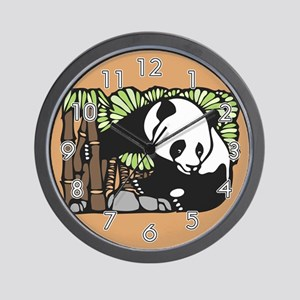 Bamboo and Panda Wall Clock