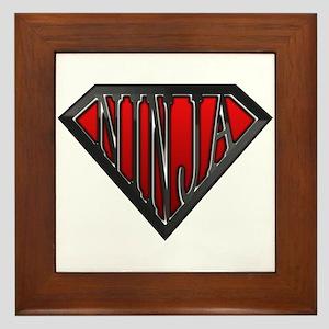 Super Ninja(Black) Framed Tile