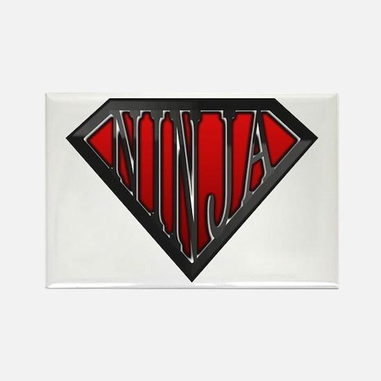 Super Ninja(Black) Rectangle Magnet (10 pack)