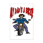 My Dad Is A Biker Mini Poster Print