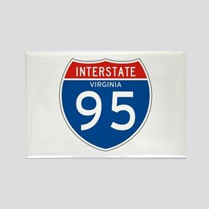 Interstate 95 - VA Rectangle Magnet