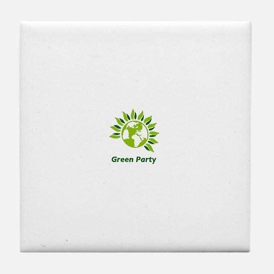 Green Party Tile Coaster