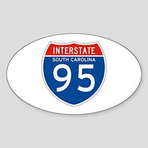 Interstate 95 - SC Oval Sticker