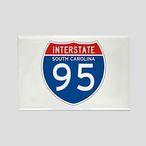 Interstate 95 - SC Rectangle Magnet
