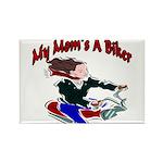 My Mom's A Biker Rectangle Magnet
