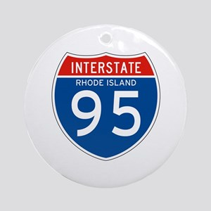 Interstate 95 - RI Ornament (Round)