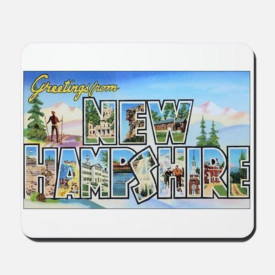 New Hampshire Greetings Mousepad
